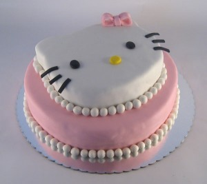 Hello Kitty torta na sprat