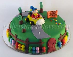 torta Nodi sa figuricom u autu