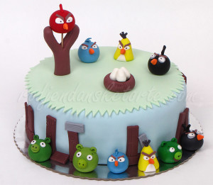 Angry birds - torta gnezdo