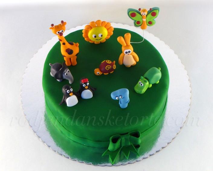 Baby TV figurice na zelenoj podlozi