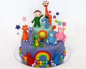 Baby TV torta Čarli Billy BamBam Cuddlies Drago