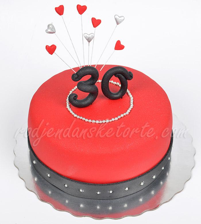 crvena-svecana-torta-za-30-rodjendan