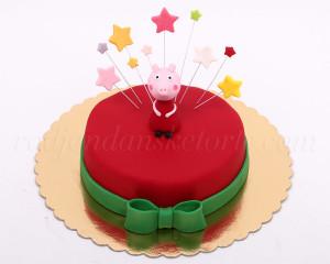 Crvena torta Pepa prase
