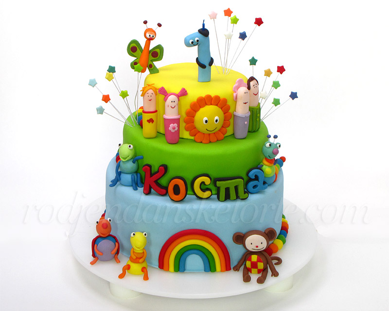decija-torta-baby-tv-big-bugs-band-finger-family