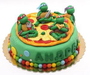 Nindža kornjače jedu pizzu
