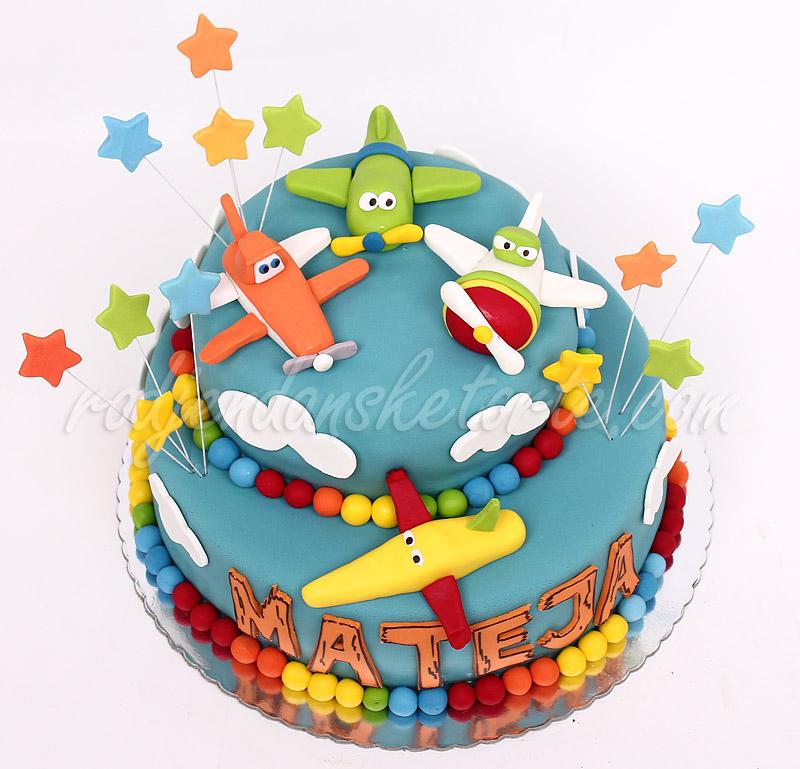 decija-torta-planes-avioni