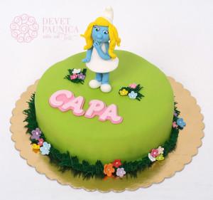 Dečija torta sa štrumfetom