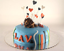 torta sa figuricom lava