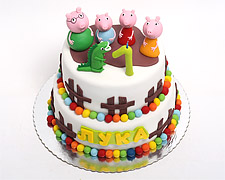 torta-pepa-prase-sa-porodicom-i-dinosaurusom