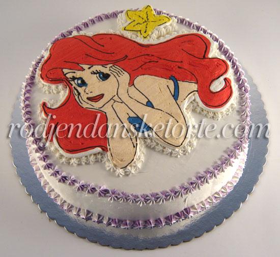 mala sirena torta