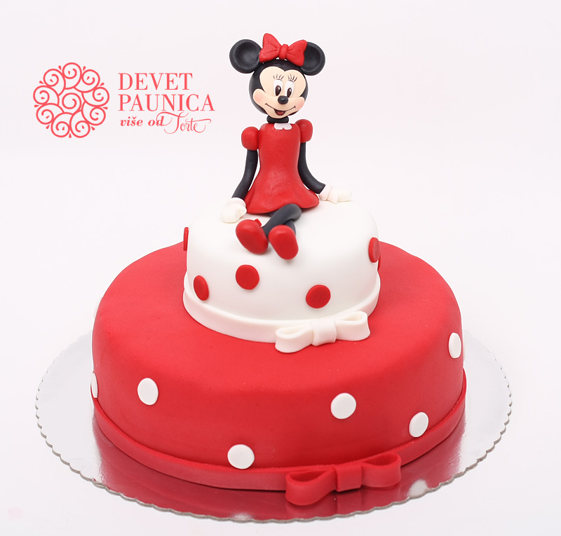 mini-maus-torta-crveno-bela-torta
