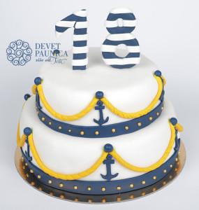 Mornarska torta za 18 rodjendan