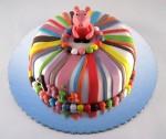 pepa prase torta sa sarenim prugama