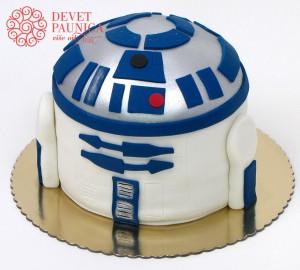 robot r2d2 star wars torta