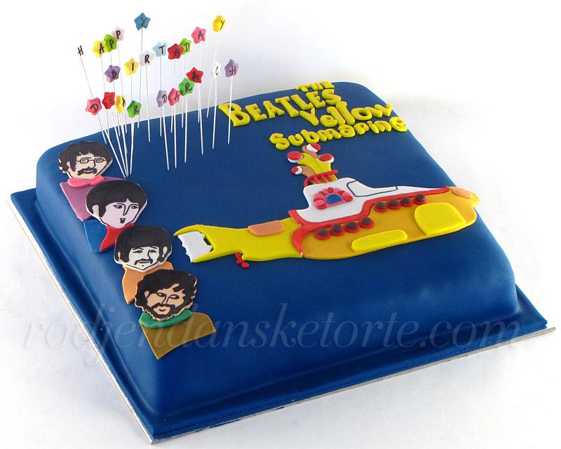 rodjendanska-torta-bitlsi-yellow-submarine