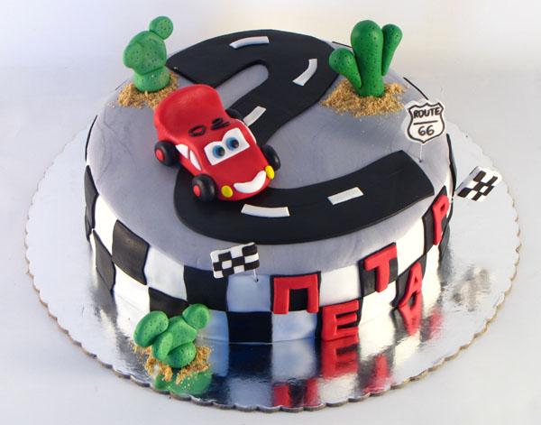 rodjendanska torta cars sa figuricom