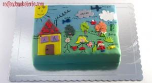 rodjendanska torta prema slici deteta