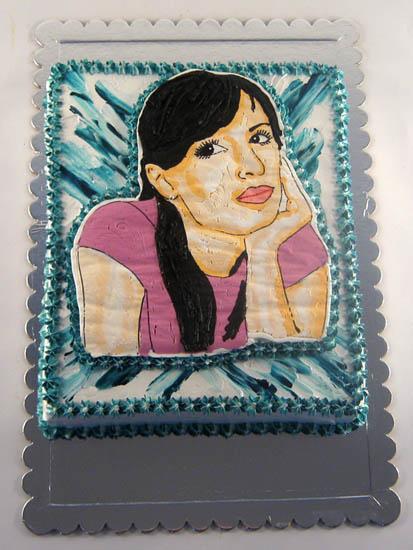 slika slavljenice na torti rucni rad slagom