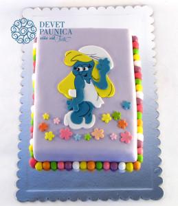 Štrumfeta - torta za devojčice