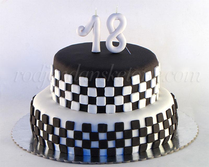 svecana-torta-motiv-crno-beli-kvadratici