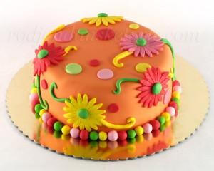 Svečana torta sa gerberima