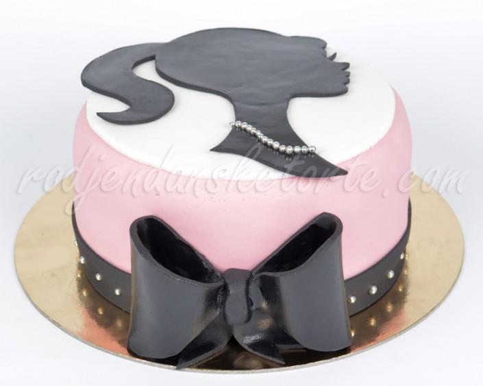 Svečana torta sa siluetom devojke