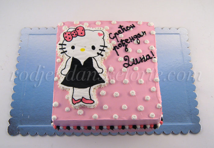 torta hello kitty u haljinici