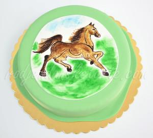 Torta konj - 2d dekoracija