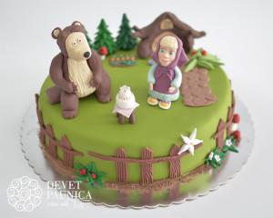 Maša i Meda sa torticom :)