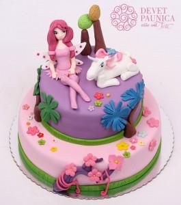 Mia i ja - torta na sprat