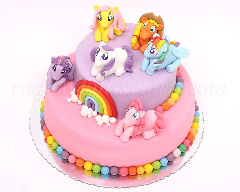 torta-moj-mali-poni-sa-figuricama-ponija