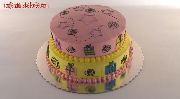 torta na sprat sa pokloncicima