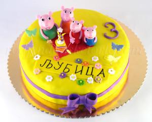 Torta Pepa prase sa porodicom