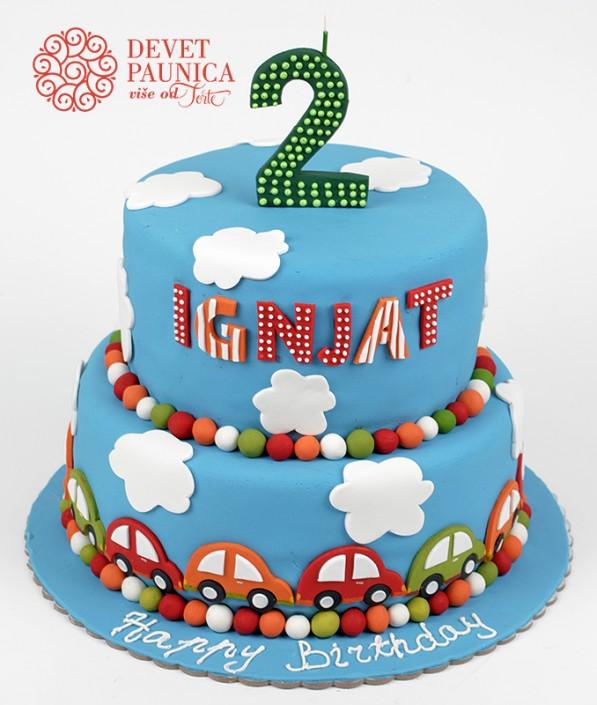 torta sa 2d autićima