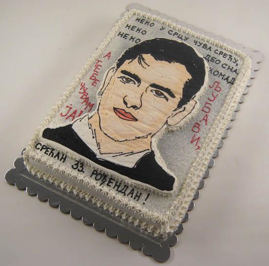 torta sa likom slavljenika sa stihovima