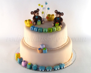 Jedna od najnežnijih torti za male dečake koje smo pravili...