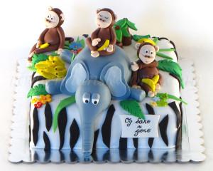 Majmunčići, veseli i nestašni, lako učine atmosferu na torti dinamičnijom :)