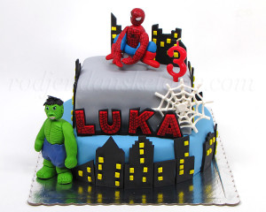 Torta sa Spajdermenom i Hulkom