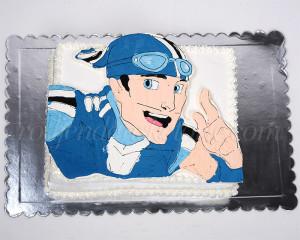 Sportakus, konačno na jednoj od naših torti - dekoracija šlagom