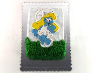 Torta Štrumfeta - dekoracija šlag