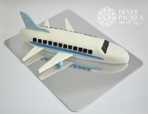Torta u obliku aviona nepoznatog proizvodjaca