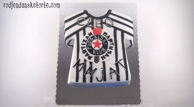 torta u obliku dresa partizana