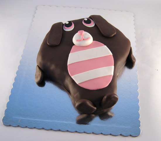 torta u obliku plisane kuce