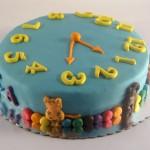 torta u obliku sata - figurica tigra