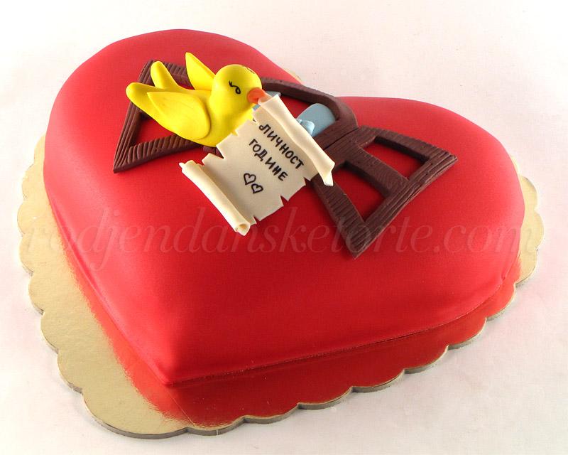 torta-u-obliku-srca-za-licnost-godine-sa-pticicom
