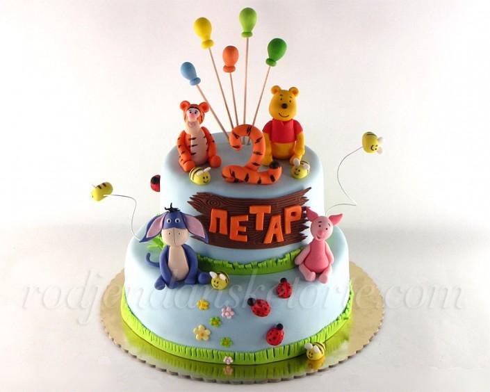 Vini Pu sa družinom i balonima