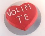 torta u obliku srca volim te