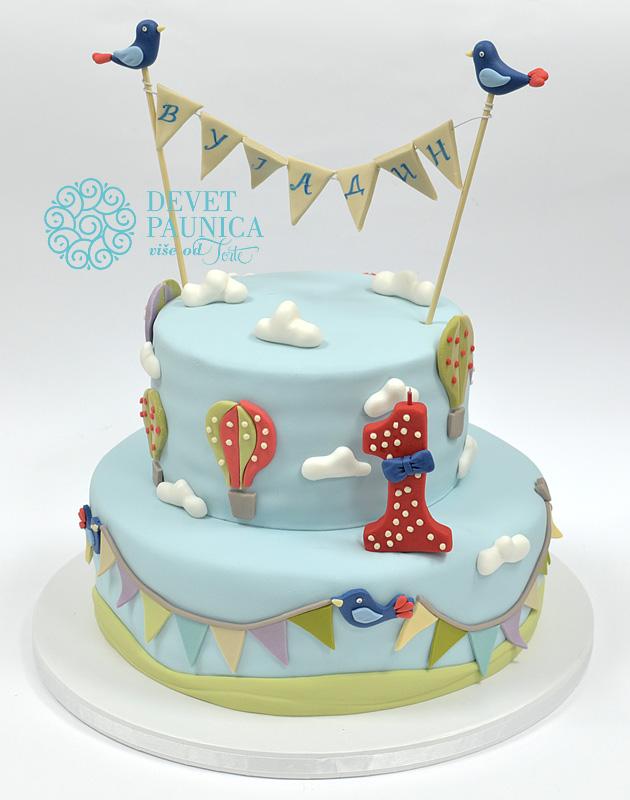 torta-za-1-rodjendan-broj-1-sa-masnicom