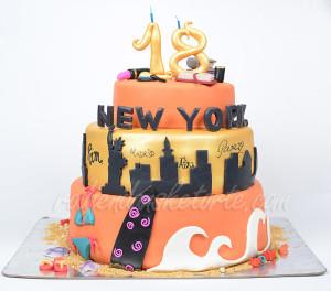 Torta za 18 rodjendan - Put oko sveta
