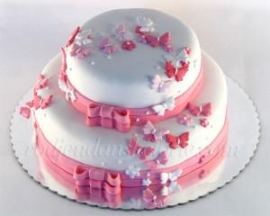 torta za krstenje sa leptiricima